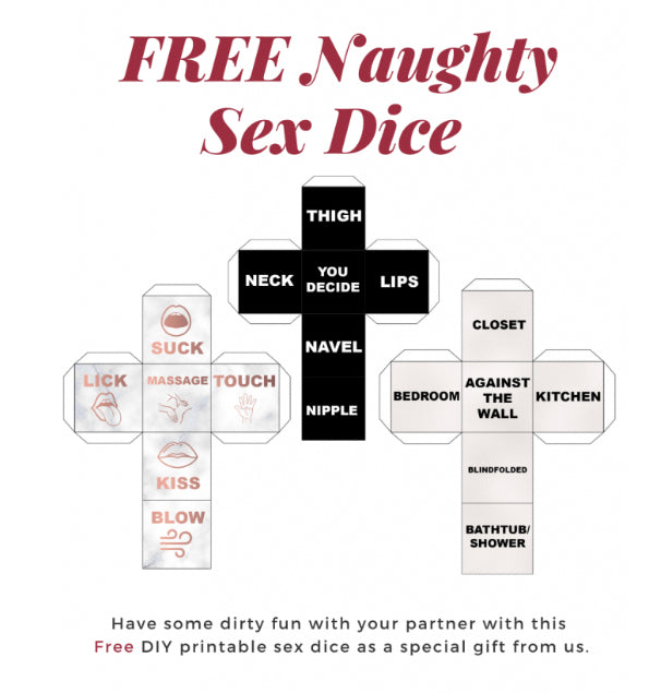 Free Printable SEX Dice