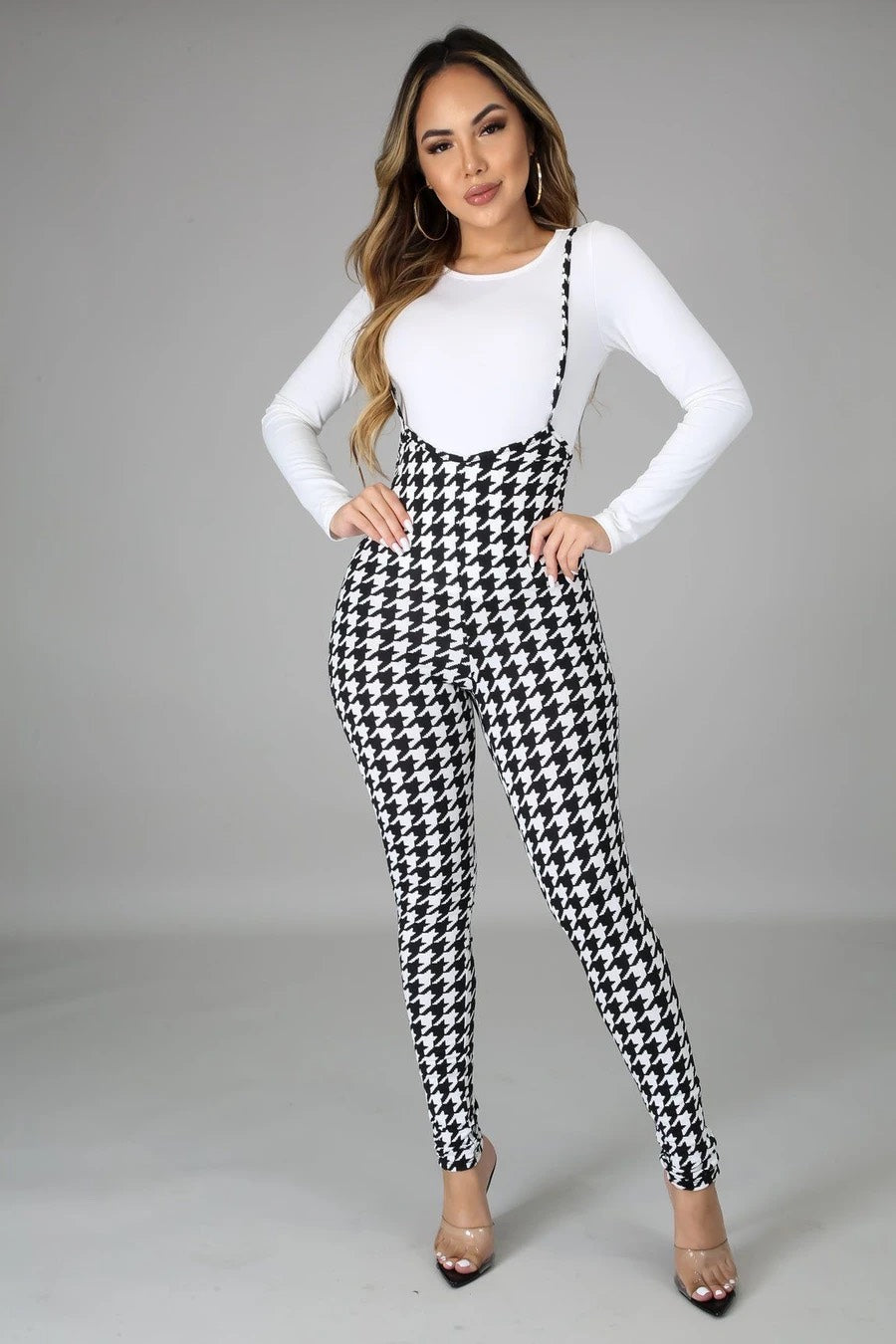 HER Frenchie Black & White Jumpsuit