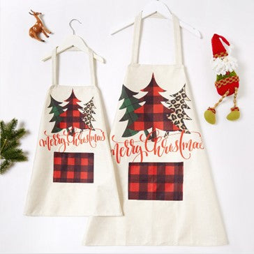 2pc Christmas Tree Prints Mommy n Me Aprons