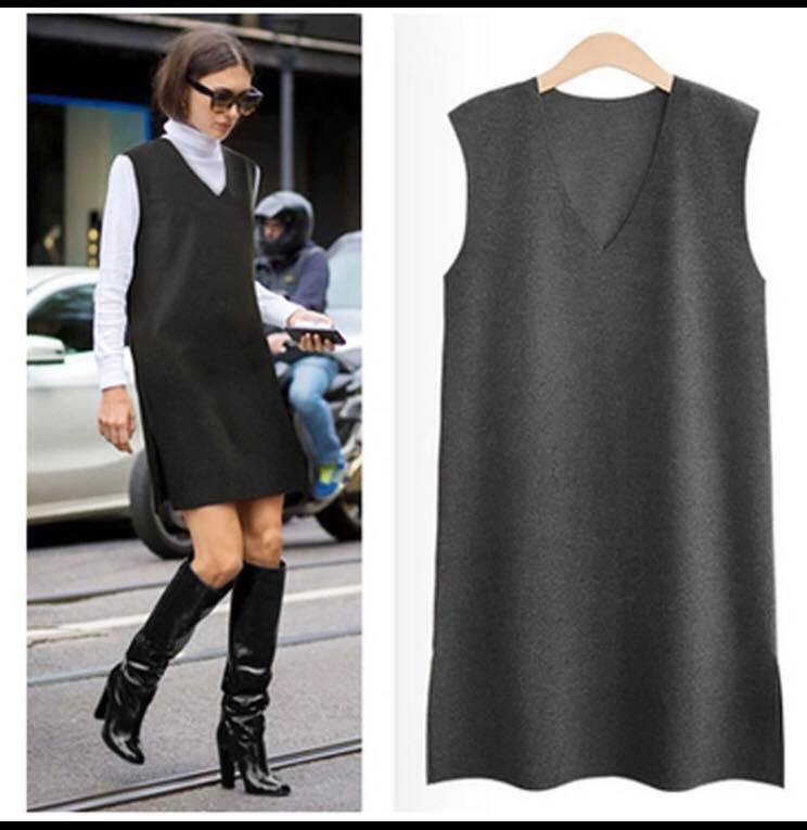 Dark Grey Pinafore