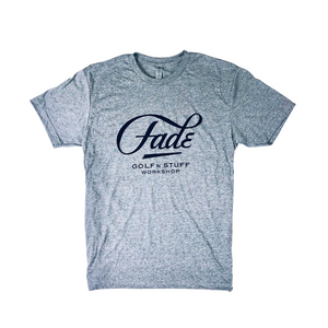 FADE LARGE LOGO-HEATHER GRAY/BLACK - Fade Golf N' Stuff Workshop