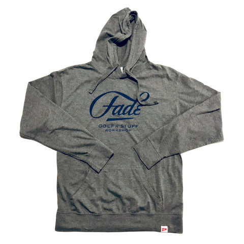 FADE LOGO LIGHTWEIGHT JERSEY HOODIE-GREY - Fade Golf N' Stuff Workshop