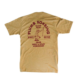 PLUMB BOB TEE-ANTIQUE GOLD