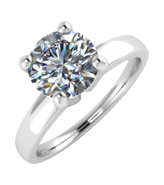 Four Prong Basket Around Solitaire Ring