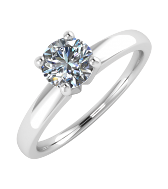 Round Brilliant Cut Center Diamond Solitaire Ring