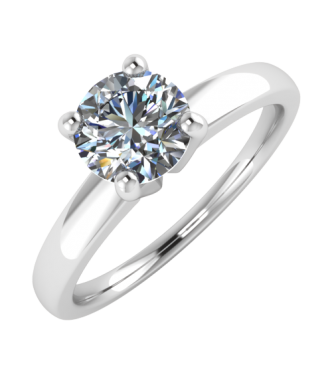 Crafted Diamond Solitaire Ring