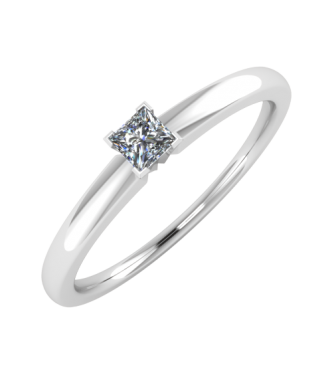 Classic diamond solitaire Princess Cut Ring