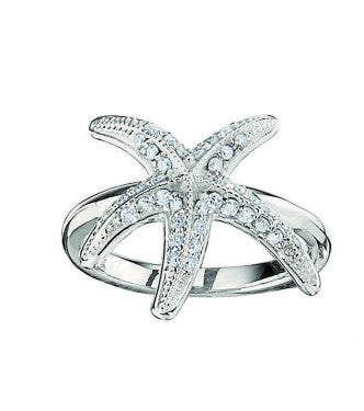 Fashion Starfish Ring Shared Prong