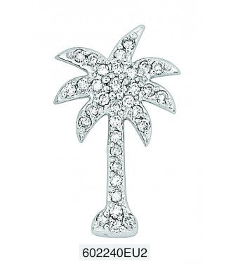 Prong Set Palm Tree Black Diamonds