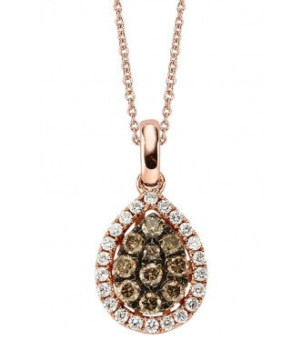 Champagne White  Pear Shaped Cluster pendant