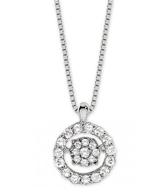 Pulse Round Circle Shape Cluster Centre Pendant