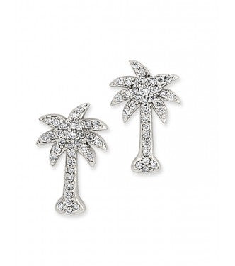 Sparkling Diamond Palm Tree Earrings
