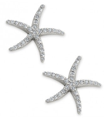 Stylish Diamond Starfish Earring