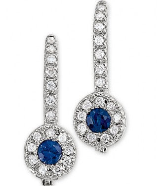 Diamond Drop Halo Earring
