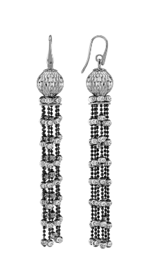 Earrings Cometa Collection White/Black