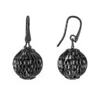 Earrings With Small Pendant Cometa Collection Black