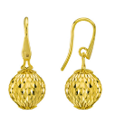 Earrings With Small Pendant Cometa Collection Gold