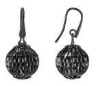Earrings With Large Pendant Cometa Collection Black