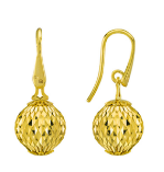 Earrings With Large Pendant Cometa Collection Gold