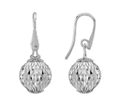 Earrings With Large Pendant Cometa Collection White