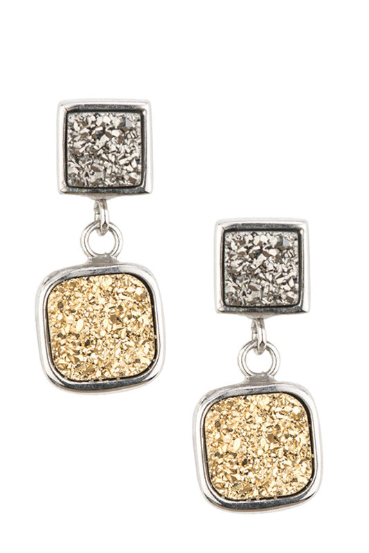 Sterling Silver Earrings With Gems