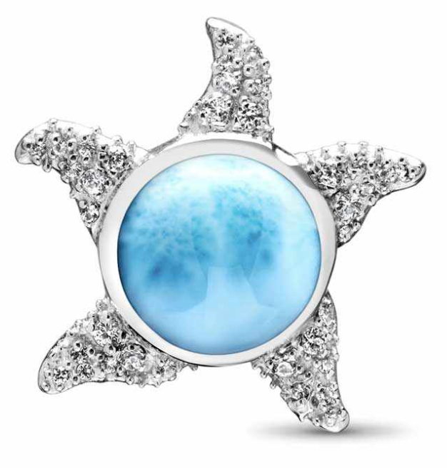 Sunfish Larimar Necklace