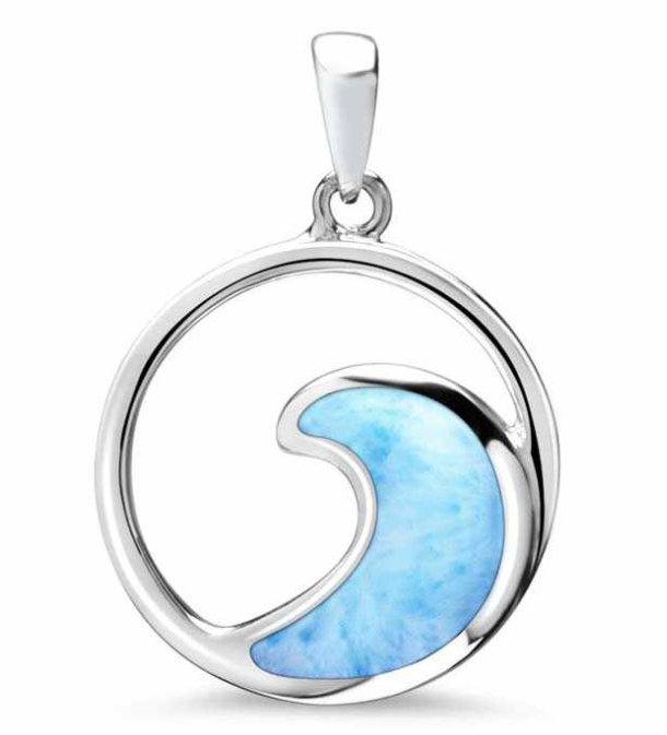 Wave Larimar Necklace