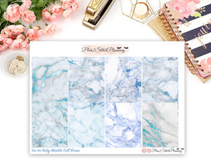Ice Ice Baby Blue Marble Full Box Planner Stickers