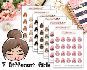 Emotion 2 Quarter Sized Sheet Planner Stickers
