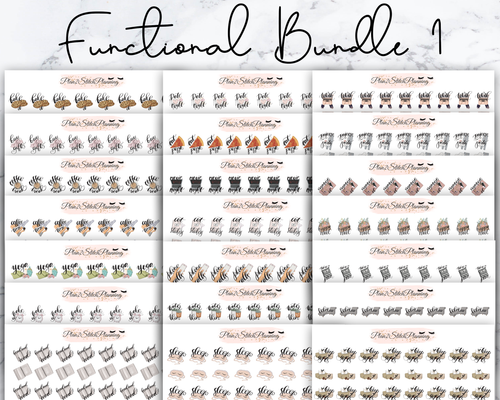Functional Bundle 1 - 882 Stickers! 21 Sheets of Planner Stickers