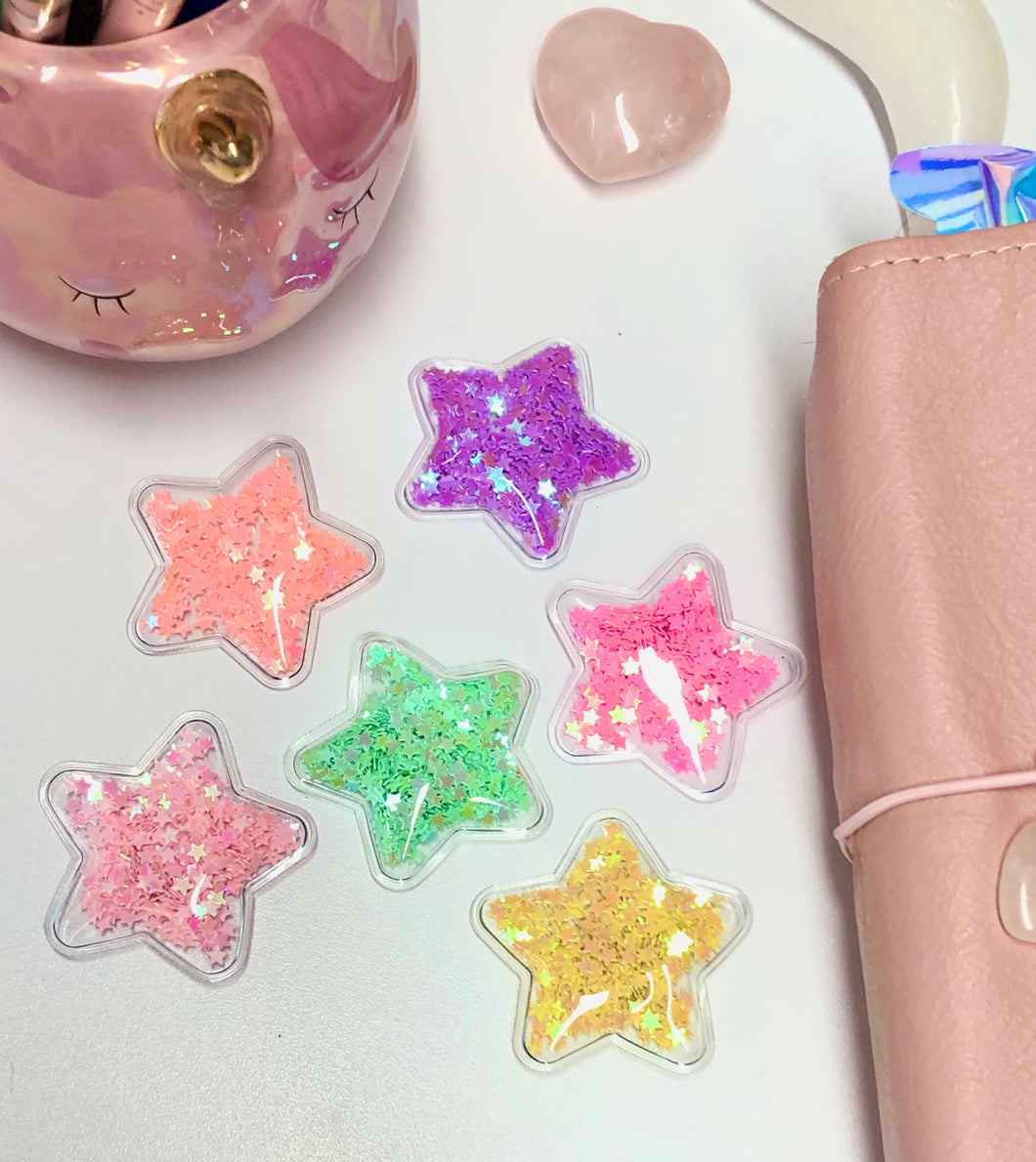 Star Confetti Shakers, Planner Accessories