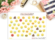 Load image into Gallery viewer, Cute Emoji Planner Stickers
