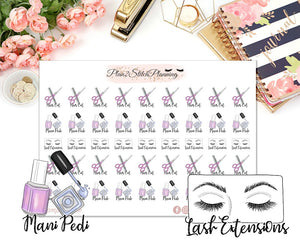 Pamper Time Planner Stickers