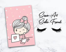 "Load image into Gallery viewer, Cute Girl Inspirational Quote Pink 4""x6"" (A6) Postcard/Dashboard"