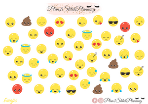 Cute Emoji Planner Stickers
