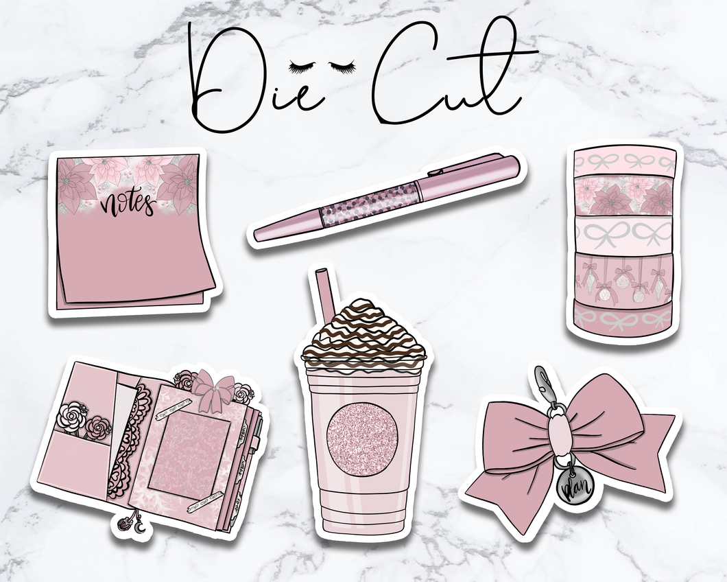 Pink Stationery Die Cut Collection