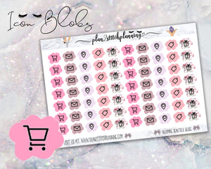 Blob Icons #9 Planner Stickers | Blooming Beautiful
