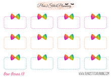 Load image into Gallery viewer, Bow Half Boxes Design #13 Planner Stickers