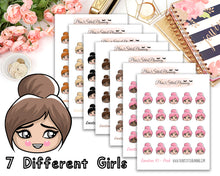 Load image into Gallery viewer, Emotion Girl Collection | All 12 sheets for the price of 8! Quarter Sized Sheet Planner Stickers
