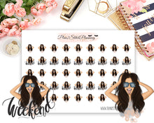 Load image into Gallery viewer, Weekend Girl Planner Stickers