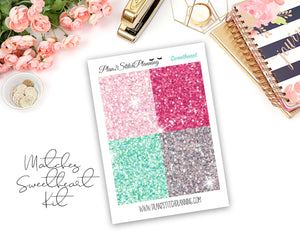 Glitter Header Planner Stickers