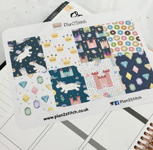 Load image into Gallery viewer, Unicorn Full Box Planner Stickers for Erin Condren