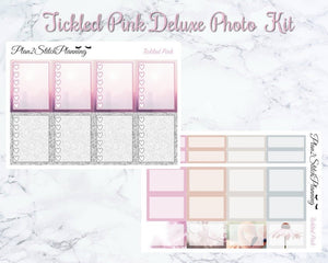 Tickled Pink Deluxe Photo Weekly Sticker Kit