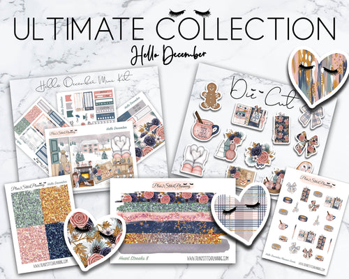 Ultimate Collection | Hello December Mini Weekly Sticker Kit Version