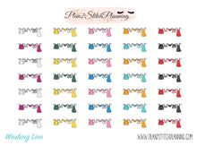 Load image into Gallery viewer, Washing Line Planner Stickers