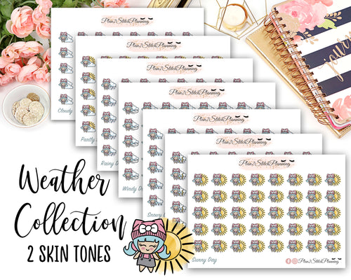 Cute Weather Bundle of 280 Stickers!
