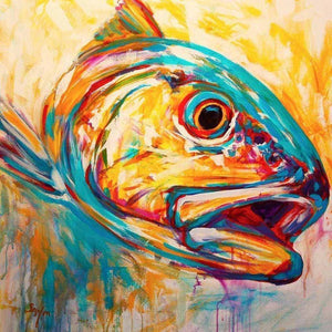 Abstract Painted Fish Diamond Painting