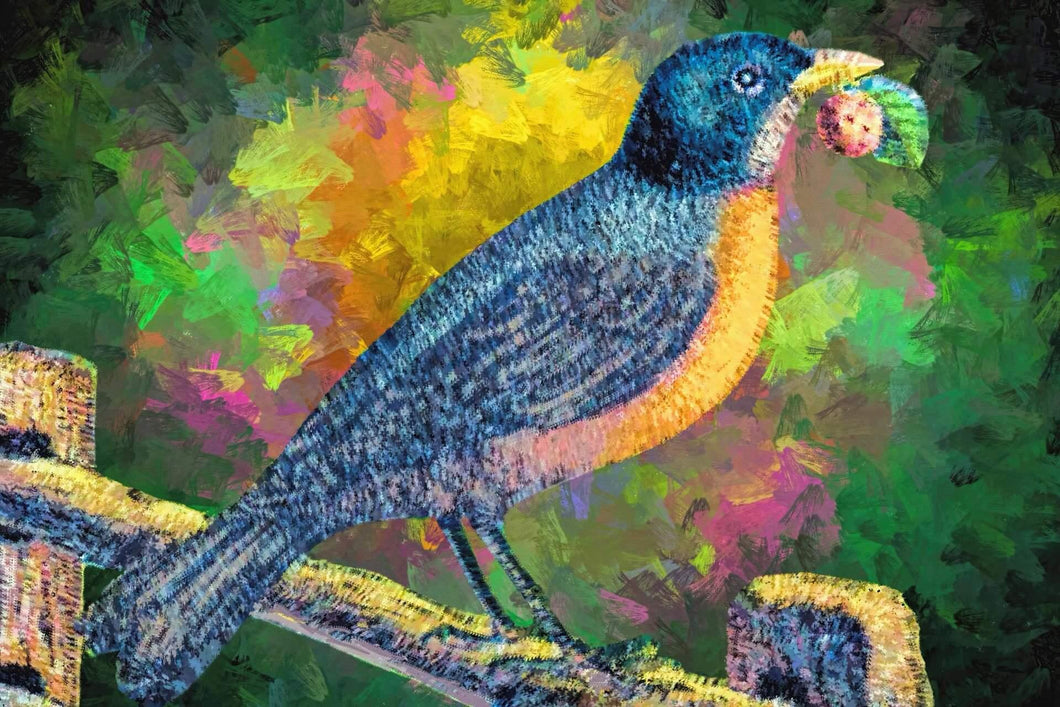 American Robin Diamond Painting