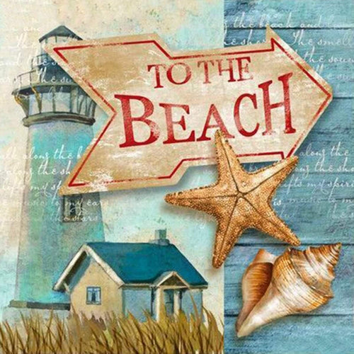 Beach Sign Diamond Painting