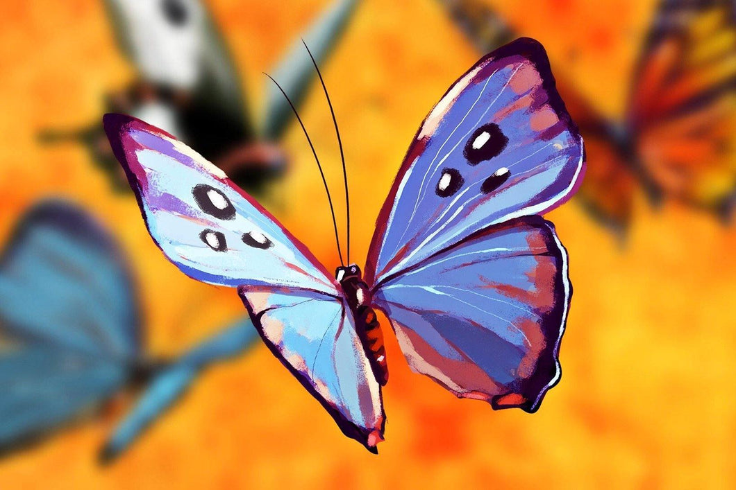 Blue Butterfly Diamond Painting